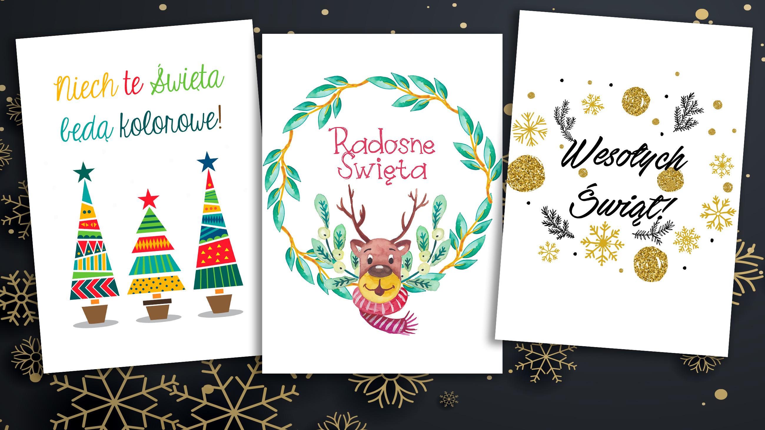 Plakaty świąteczne Do Wydruku Tosiakowo